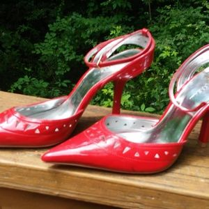 X-Appeal Red Patent Leather High Heels - Size 7